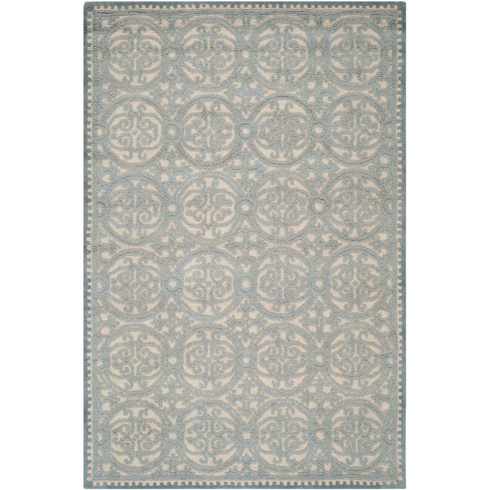 Safavieh Cambridge Dusty Blue/Cement 5 ft. x 8 ft. Area Rug