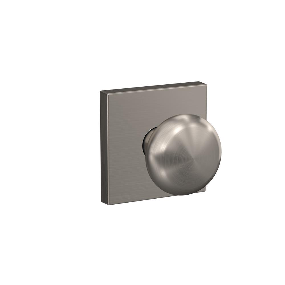 Schlage custom plymouth satin nickel collins trim combined - Satin nickel interior door knobs ...