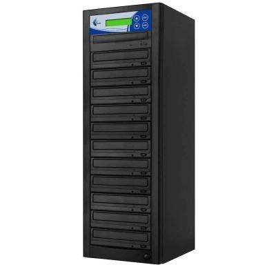 11 Copy DVD/CD Duplicator Features 24x DVD Drives - Black