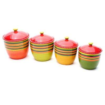Hot Tamale Multi-colored Canister Set (4-Piece Set)