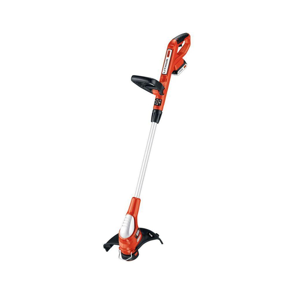 black decker string trimmers lst220 64_1000 black decker 12 in 20 volt max lithium ion cordless string grass  at gsmx.co