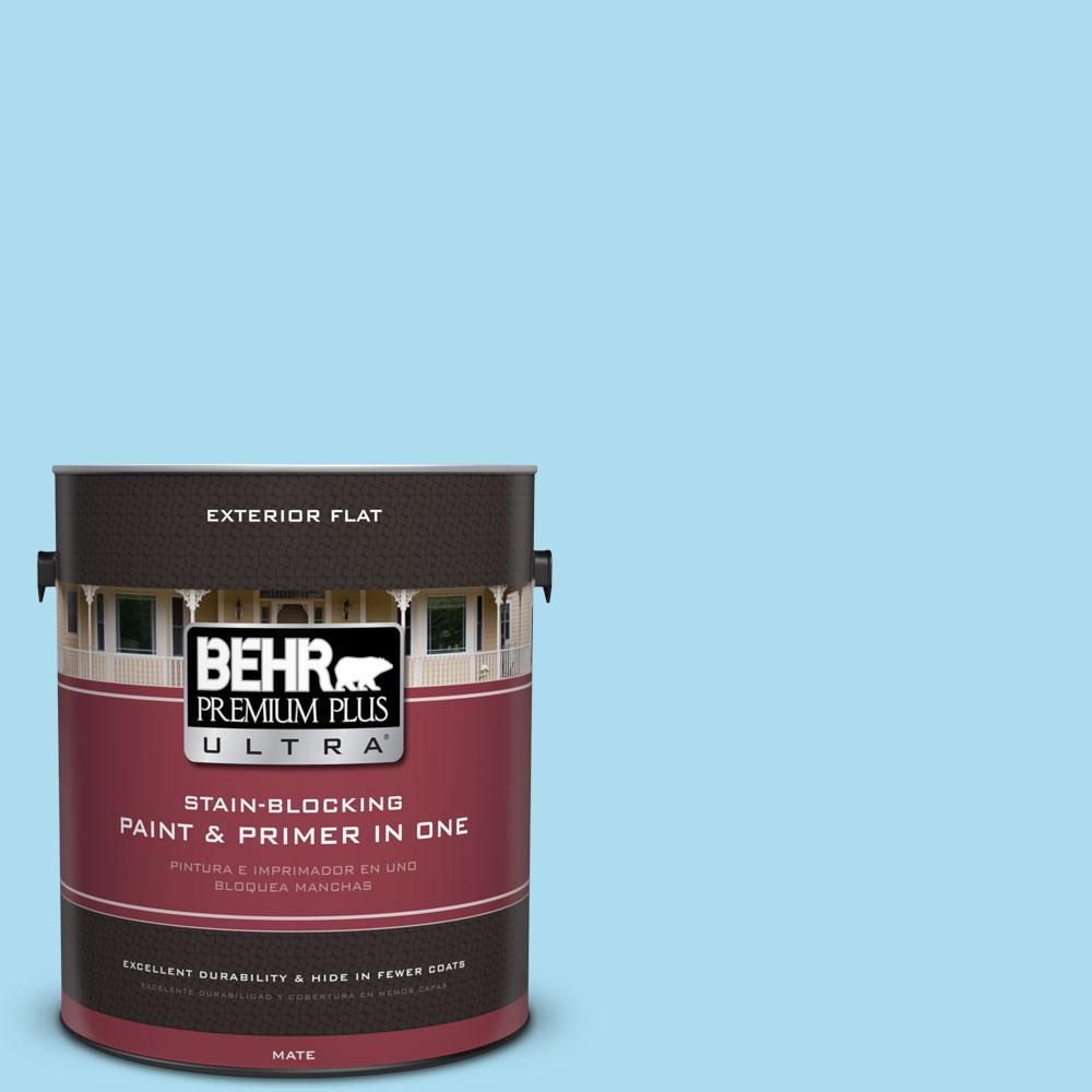 BEHR Premium Plus Ultra 1-gal. #530A-3 Frosty Glade Flat Exterior Paint