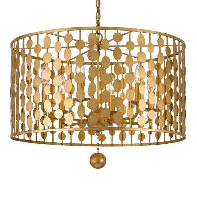 Layla 6-Light Antique Gold Chandelier