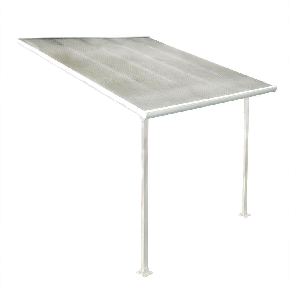 Palram 10 ft. x 10 ft. Aluminum and Polycarbonate Patio Cover-DISCONTINUED