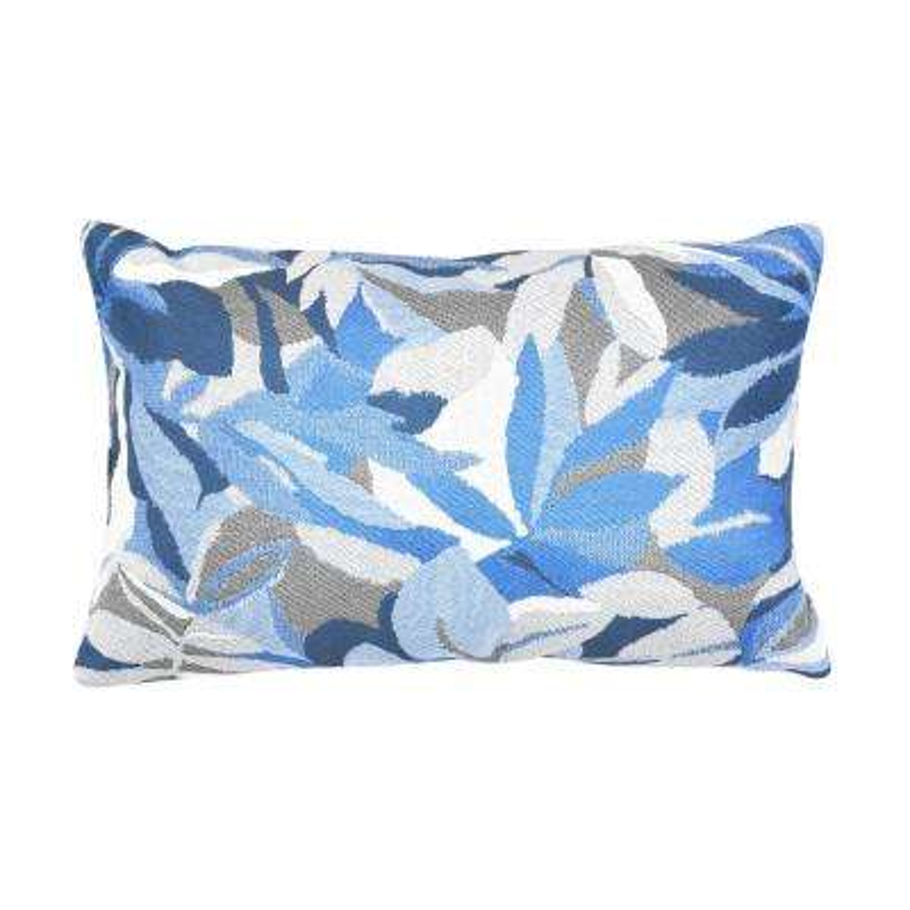 Dewey Blue Lumbar Outdoor Accent Throw Pillow
