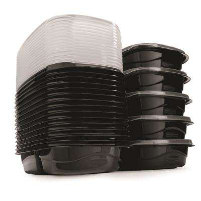 TakeAlongs 40-Piece Black 3.7-Cup Economy Food Storage Container Set