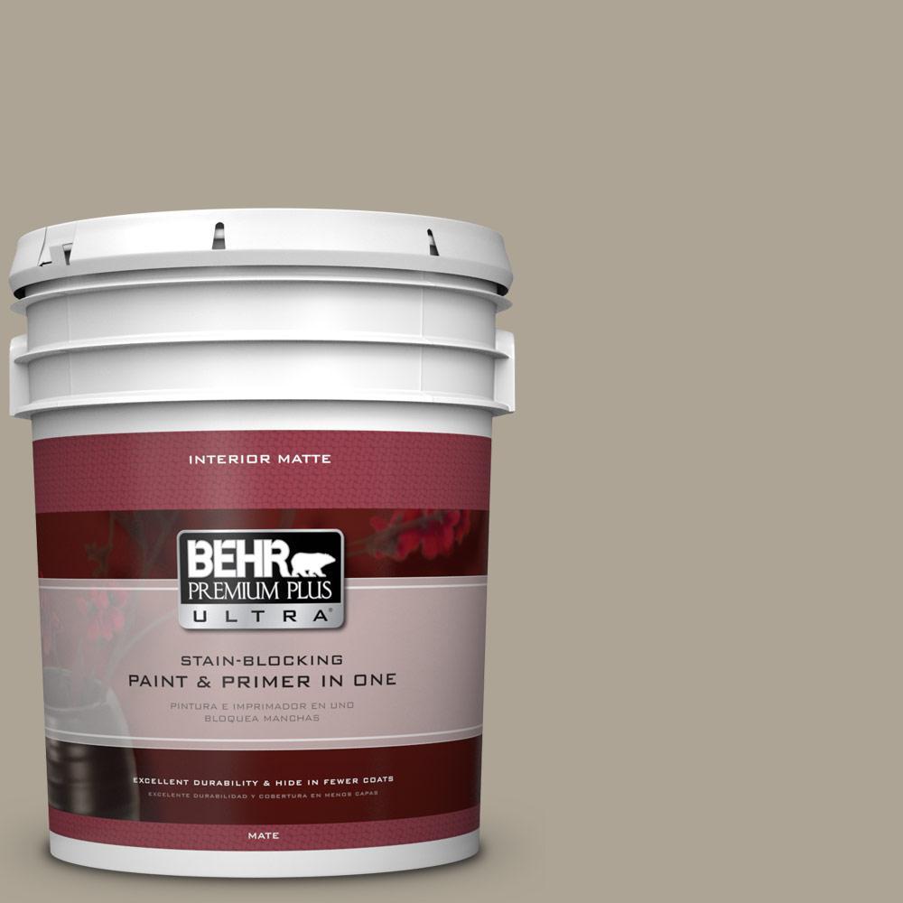 BEHR Premium Plus Ultra Home Decorators Collection 5 gal. #HDC-NT-14 Smoked Tan Flat/Matte Interior Paint