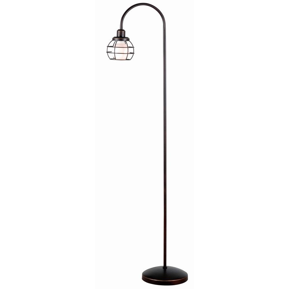 59 in. Bronze Caged Floor Lamp