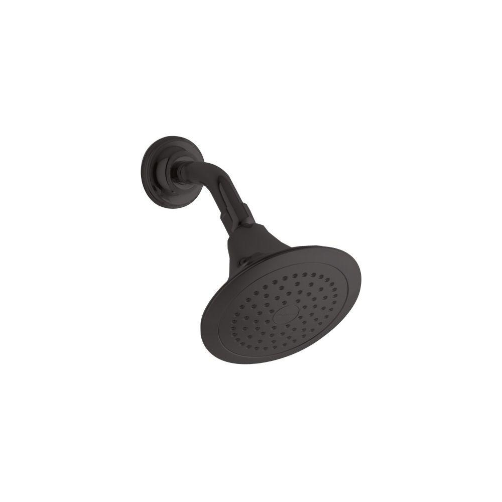 KOHLER Forte 1-spray Single Function Showerhead in Oil-Rubbed Bronze