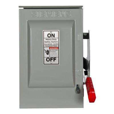 Heavy Duty 30 Amp 600-Volt 3-Pole Outdoor Non-Fusible Safety Switch