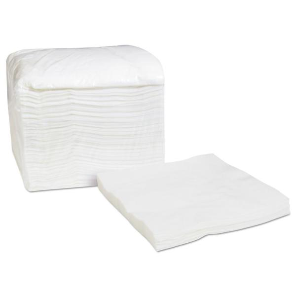 Select Dinner Napkins, 1-Ply, White, 16.75 in. x 17 in., 250/Pack, 8/Carton
