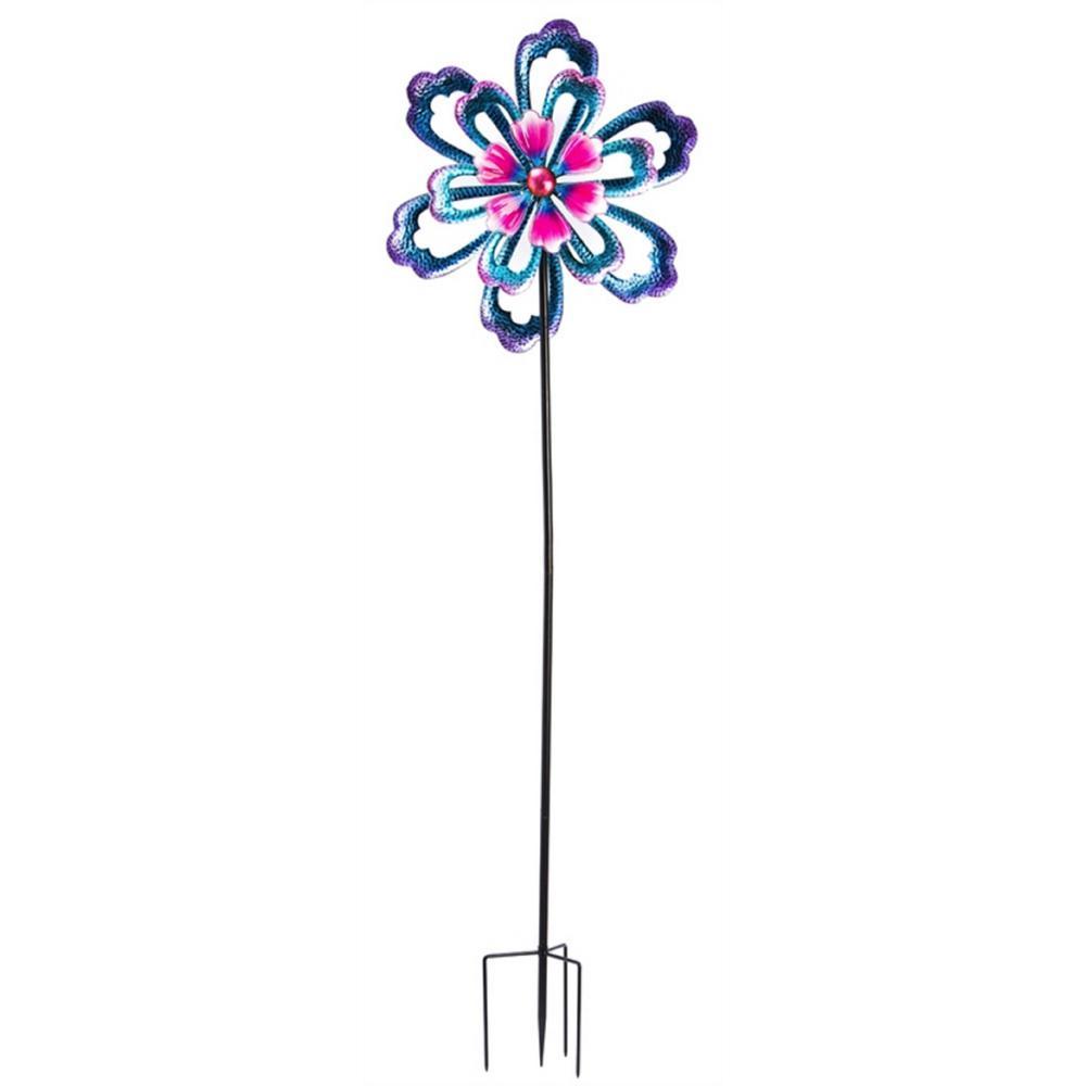 Bursting Flower 100 in. Kinetic Wind Spinner