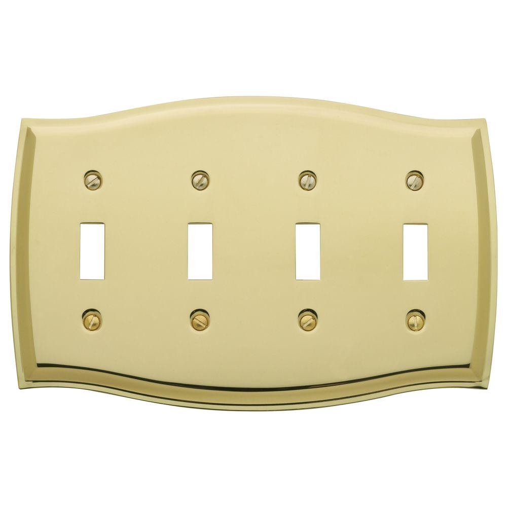 Hampton Bay Chelsea 4 Toggle Wall Plate - Aged Bronze-149T4DB - The ...