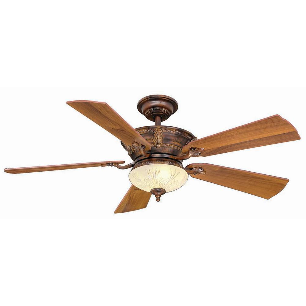 Hampton Bay Bercello Estates 52 in. Volterra Bronze Ceiling Fan
