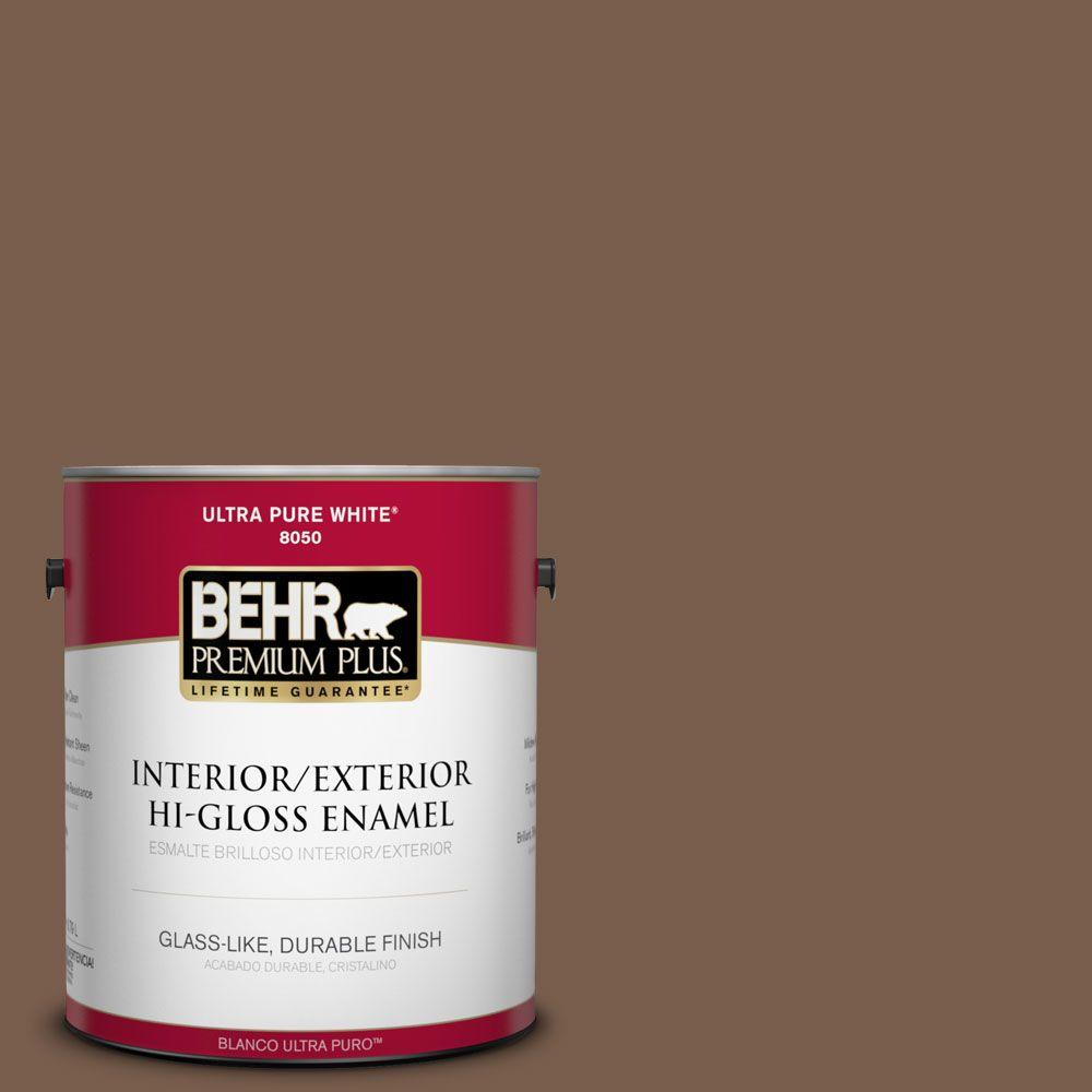 1-gal. #250F-7 Melted Chocolate Hi-Gloss Enamel Interior/Exterior Paint