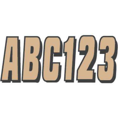 Series 320 Registration Kit Solid Color Block Font with Drop Shadow in Brown/Black