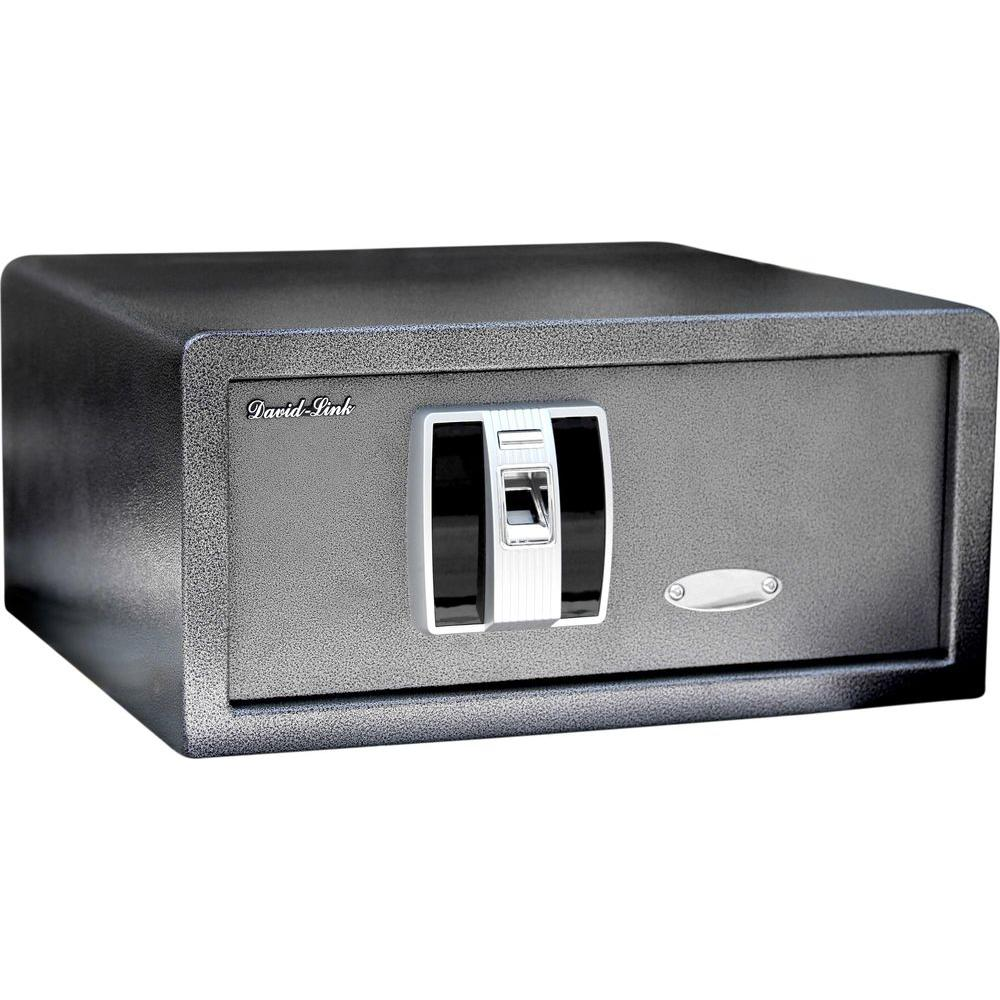 David-Link Biometric Electronic 1.0 cu. ft. 14-Gauge Steel Fingerprint Home Security Safe