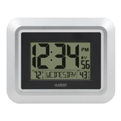 Atomic Digital Wall Clock with Temperature