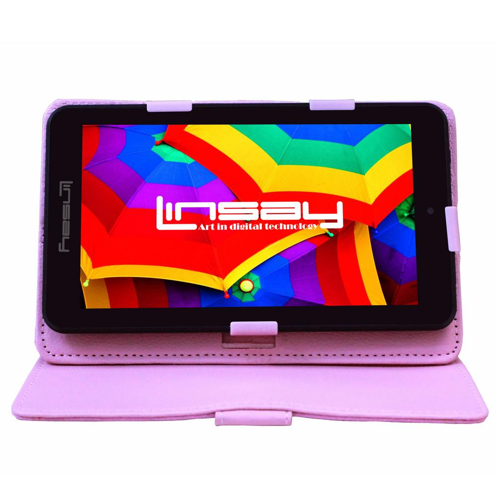 LINSAY 7 in. 2GB RAM 16GB Android 9.0 Pie Quad Core Tablet with Pink Case was $119.99 now $54.99 (54.0% off)