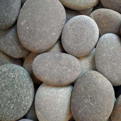 10 cu. ft. 1/2 in. - 1 in. Pallet Black Mexican Beach Unpolished Pebble