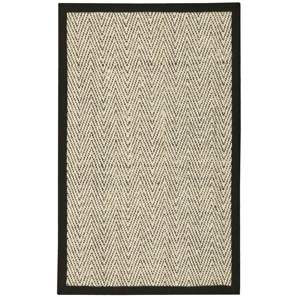 Herringbone Black 2 ft. 6 in. x 4 ft. Accent Rug