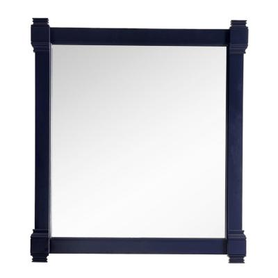 Brittany 35 in. W x 39.25 in. H Framed Wall Mirror in Victory Blue