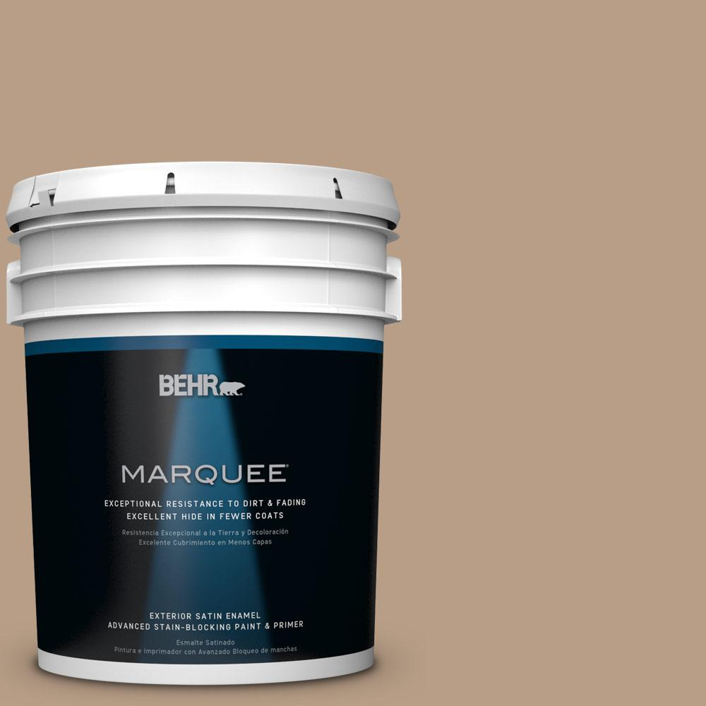 BEHR MARQUEE 5-gal. #icc-52 Cup of Cocoa Satin Enamel Exterior Paint, Browns/Tans