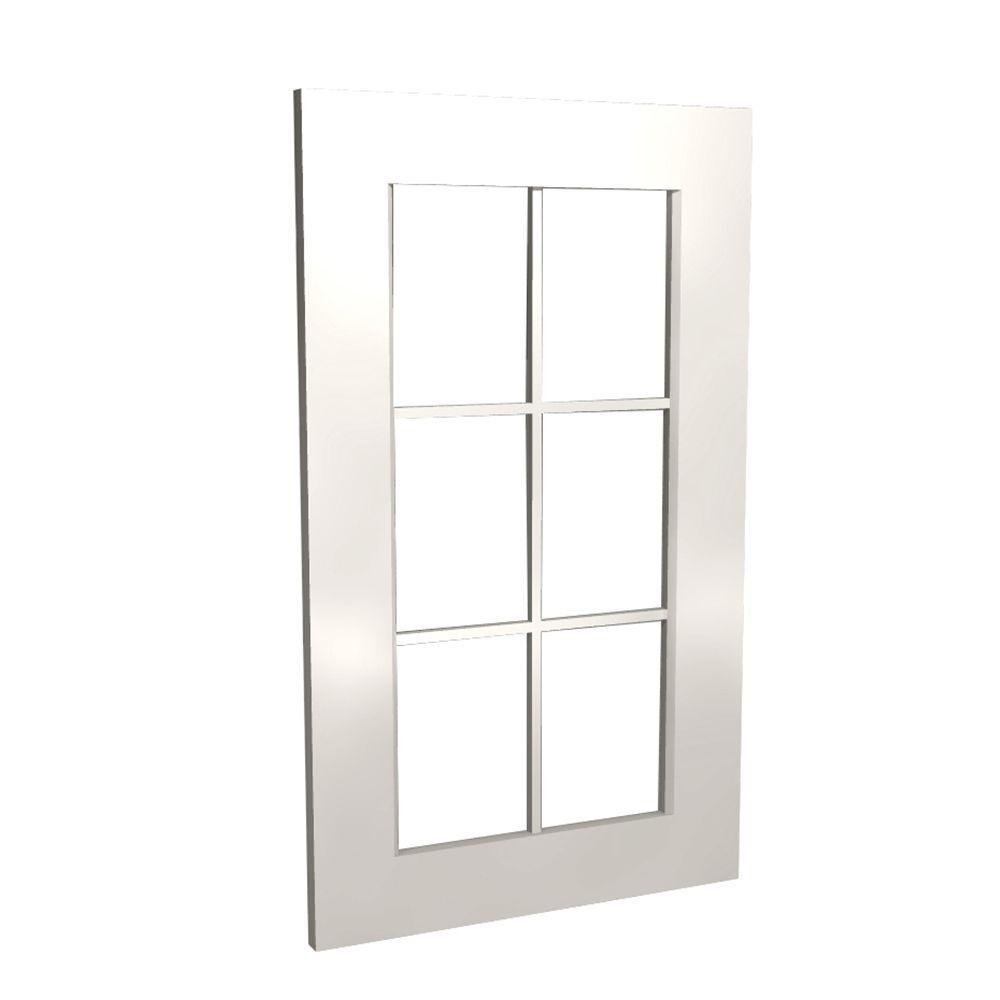 Home Decorators Collection Newport Assembled 18x36x.75 in. Mullion Door in Pacific White