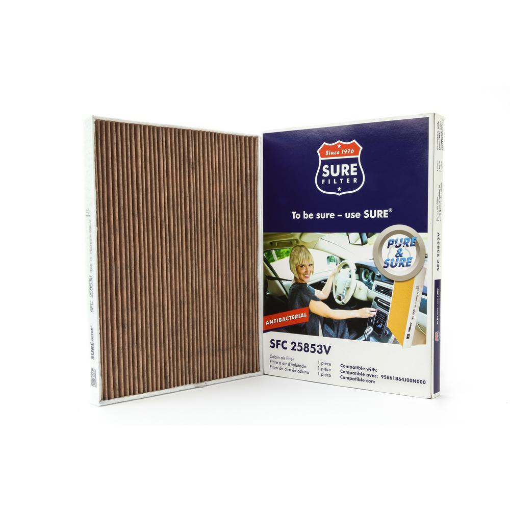 Sure Filter Replacement Antibacterial Cabin Air Filter for Wix 24200  Purolator C25853 Fram CF10731