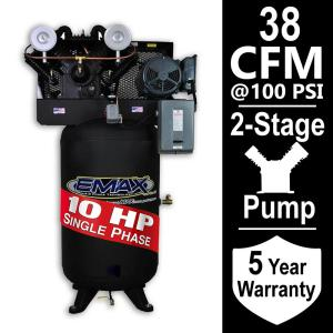 EMAX Industrial Series 80 Gal. 10 HP 1-Phase Electric Air Compressor by EMAX