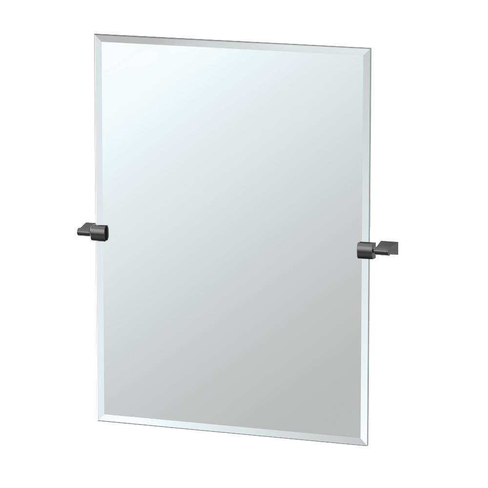 Bleu 28 in. x 32 in. Single Large Rectangle Mirror in