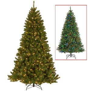 GE 7.5 ft. Pre-Lit LED Energy Smart Just Cut Colorado Spruce ...
