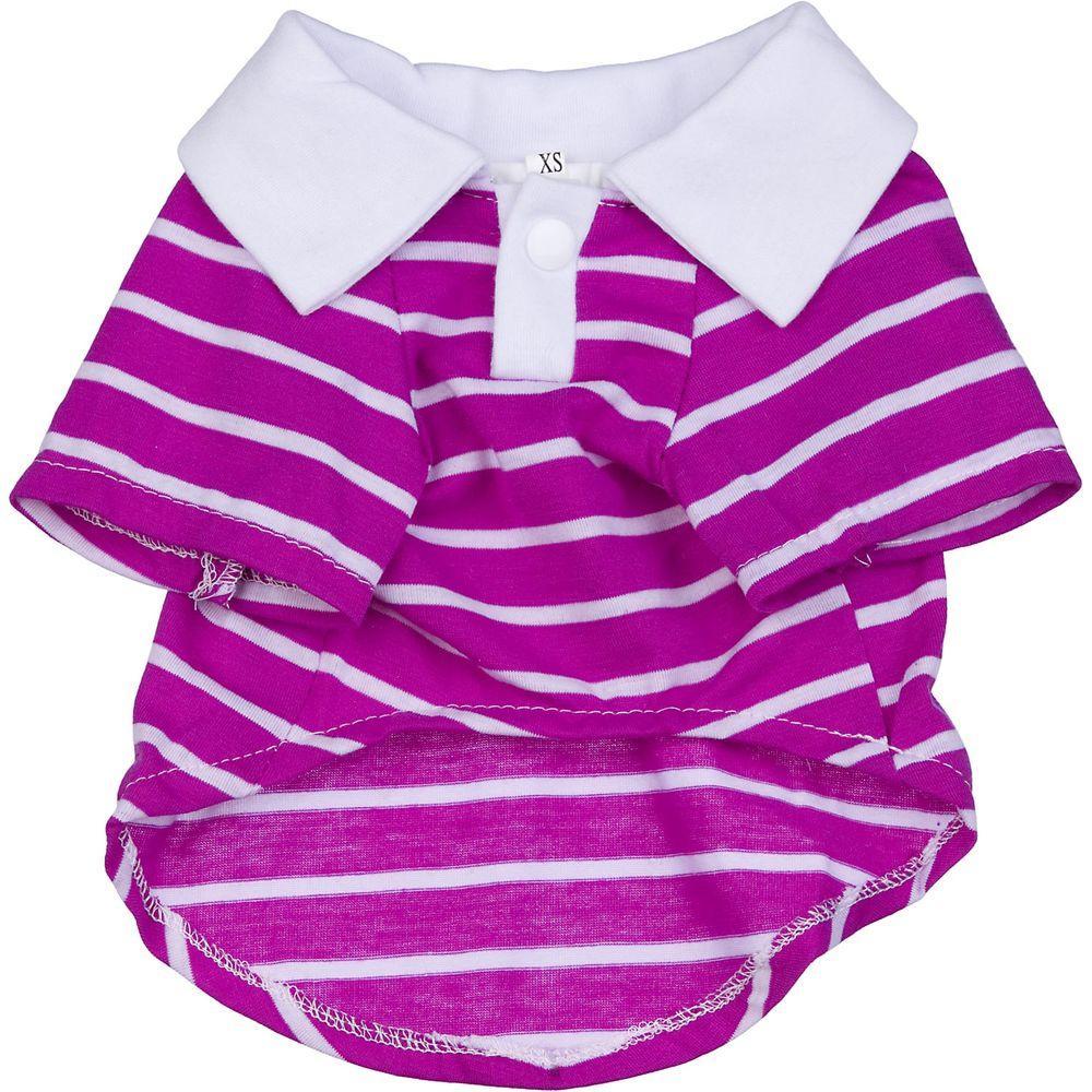PET LIFE X-Small Pink and Grey - Polo Shirt