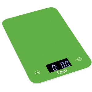 Click here to buy Ozeri Touch Professional Digital Kitchen Scale (12 lbs. Edition), Tempered Glass in Green by Ozeri.