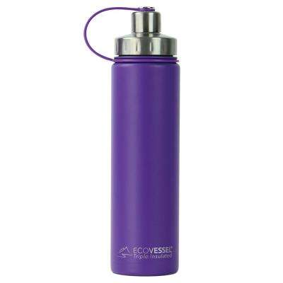 24 oz. Boulder Triple Insulated Bottle with Screw Cap - Purple Haze (Powder Coat)