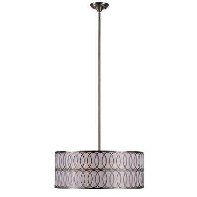Venn 5-Light Brushed Nickel Pendant