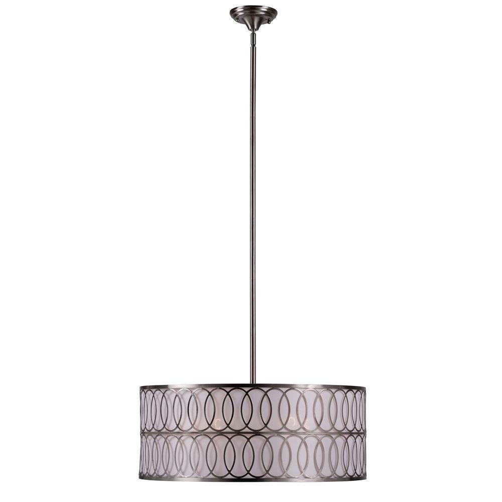 Venn 5-Light Brushed Nickel Pendant