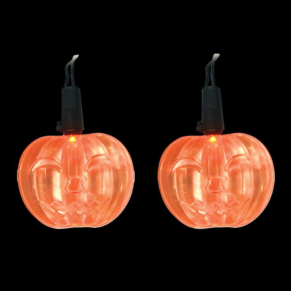 Led Orange Battery Operated Pumpkin Lights Set Of 10