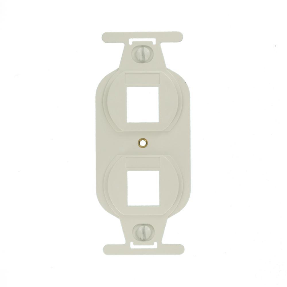Leviton Ivory 1 To 5 Modular 4wire Phone Jack Converter Adapter C0261