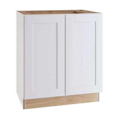 Newport Assembled 24x34.5x24 in Plywood Shaker Kitchen Cabinet Full Height Soft Close Doors in Painted Pacific White