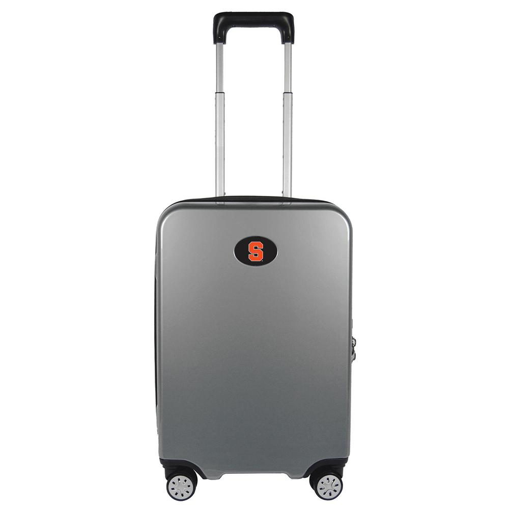 83c51abbf5fc Denco NCAA Syracuse Premium Silver 22 in. 100% PC Hardside Carry-On Spinner  Suitcase with Charging Port