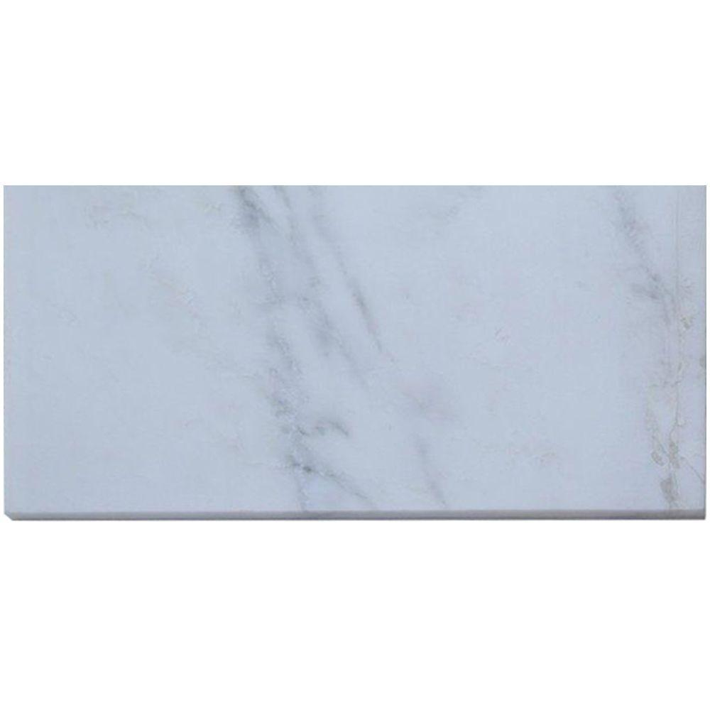 Splashback Tile Oriental 6 in. x 12 in. x 8 mm Marble Mosaic Floor ...