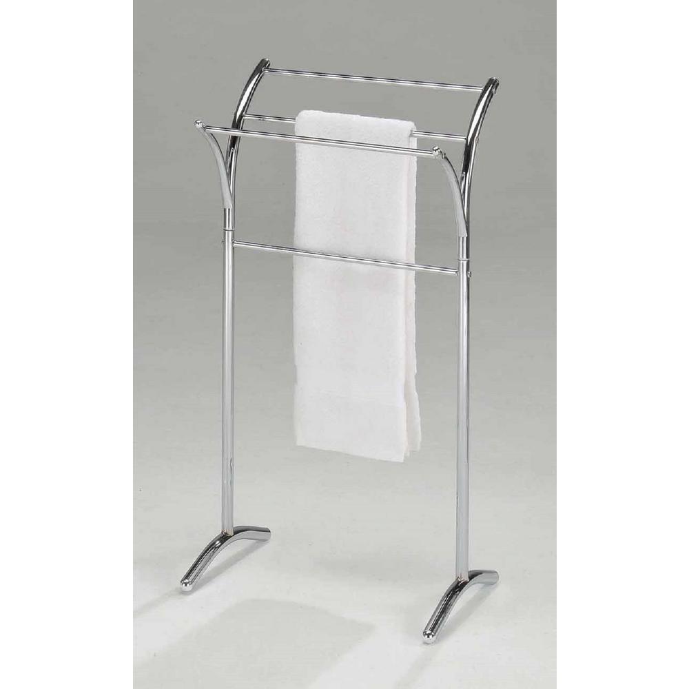Minimalist 4-Bar Towel Rack in Polished Chrome