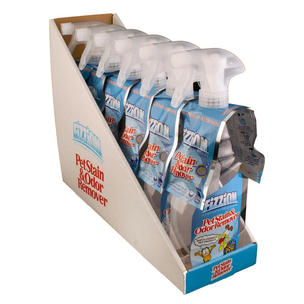 Fizzion 23 oz. Empty Bottle with 2 Pet Stain and Odor Remover Refill Tablets (Case of 6)