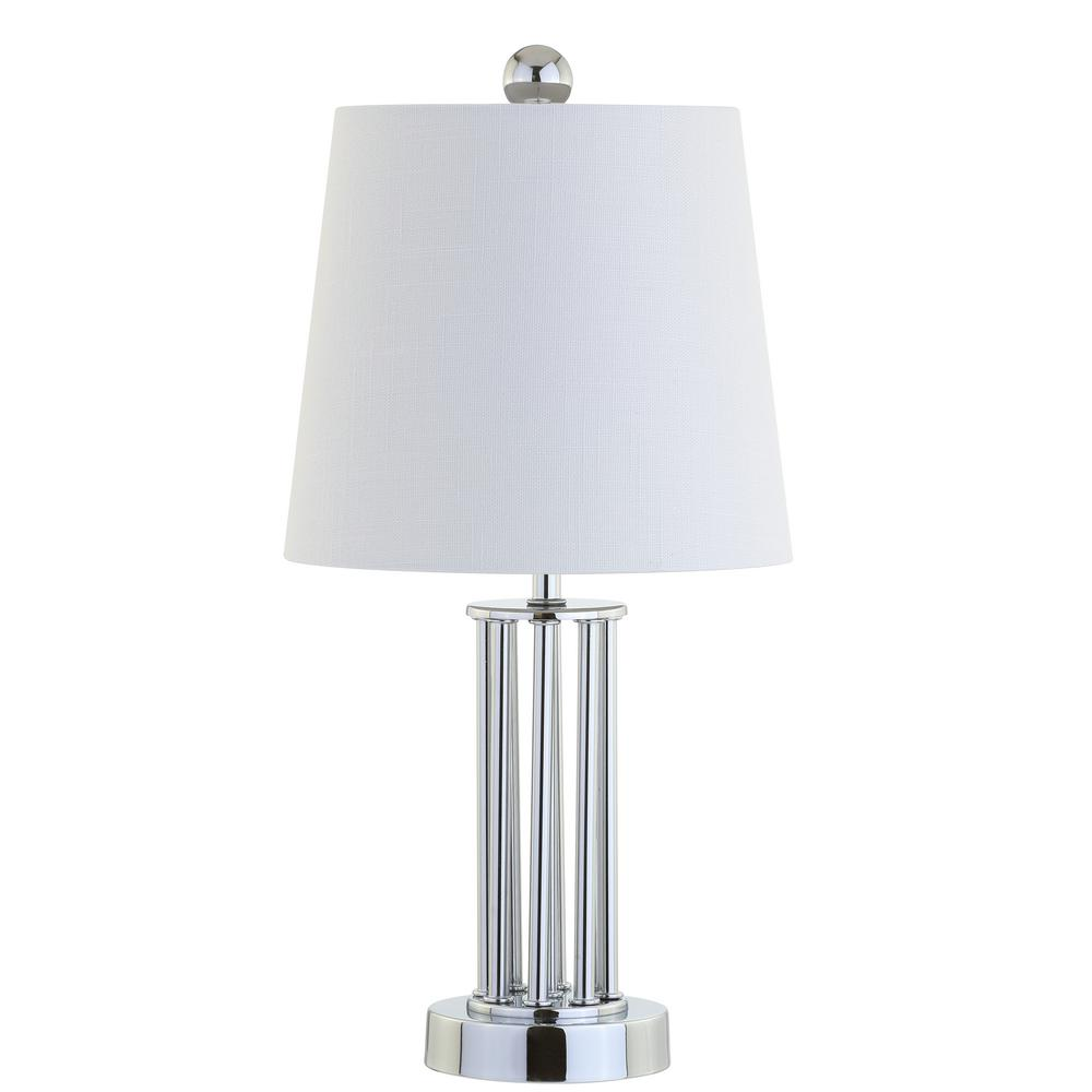 Lillian 18 In Chrome Metal Mini Table Lamp Jyl2025a The Home Depot