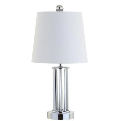 Lillian 18 in. Chrome Metal Mini Table Lamp
