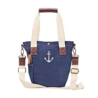 Anchor Navy Canvas Wine Tote