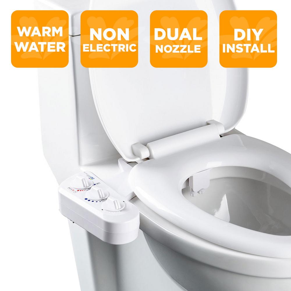 Biobidet Economy Class Duo Bidet Attachment In White Bb 270 The Home Depot