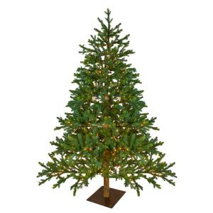 6.5 ft. Pre-Lit LED North Pine Artificial Christmas Tree - Clear Lights