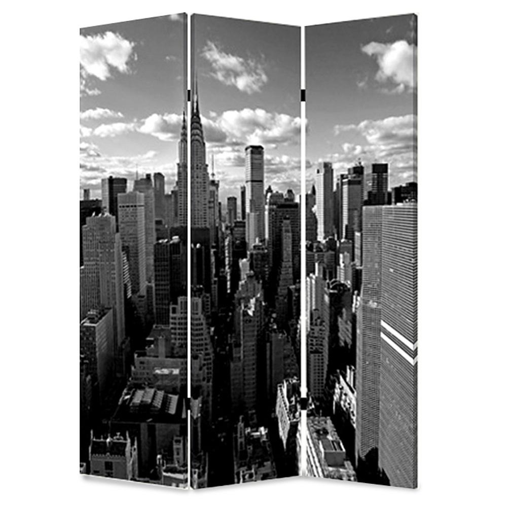 NEW YORK SKYLINE 6 ft Multi color 3 Panel Room Divider SG 114 The